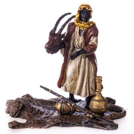 Arabische marktkoopman brons beeld