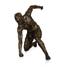 Denarius bronzen beeld