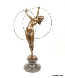 Bronzen beeld ritmisch gymnaste
