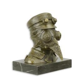Steampunk bronzen pest snaveldokter