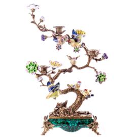 Japans bronzen Bonsai boomkandelaar