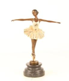 Ballet bronzen meisje beeld