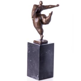 Naakt gezette dames bronzen beelden