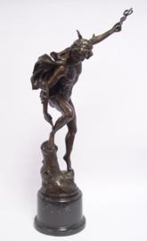 Bronzen Mercurius Hermes 56 cm