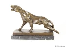 Panter art-deco bronzen beeld
