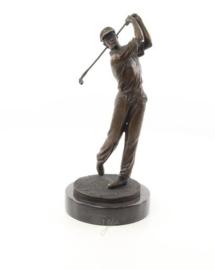 Golfspeler brons beeld