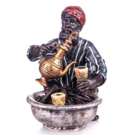 Arabische koffieverkoper brons beeld