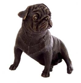 Bronzen buldog puppy hond beeld