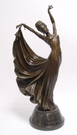 Bronzen Wu Yaohui danseres beeld