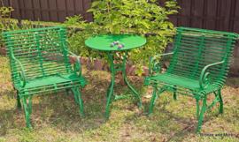 Franse Art Nouveau 3 delige tuinset