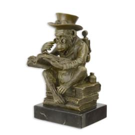 Steampunk bronzen Darwin aap