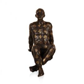 Bronzen kaartenspeler beeld Destiny