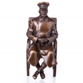 Historische mannen bronzen beelden