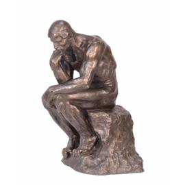 De Denker groot brons tuinbeeld