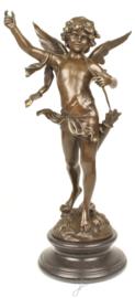 Cupido zoon Amor bronzen beeld