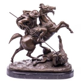 Leeuwenjacht brons beeld naar Barye
