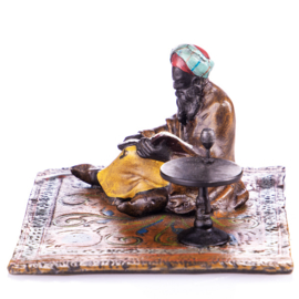 Arabier lezende man brons beeld