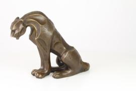 Bronzen jaguar beeld abstract model