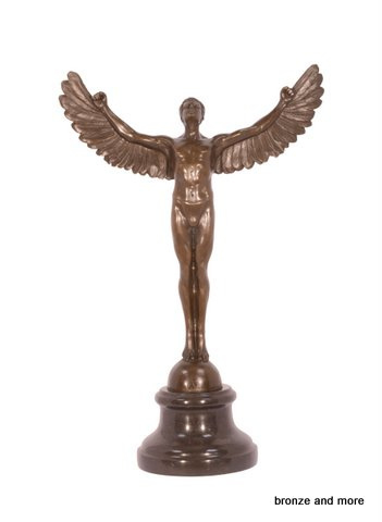 Bronzen god Icarus beeld
