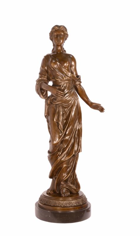 Bronzen beeld 4 jaargetijden Lente