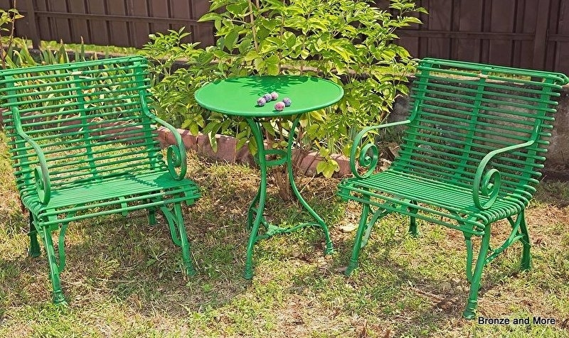 Wonderlijk Brocante ijzeren Franse bistro-set | Bronze and More RT-27