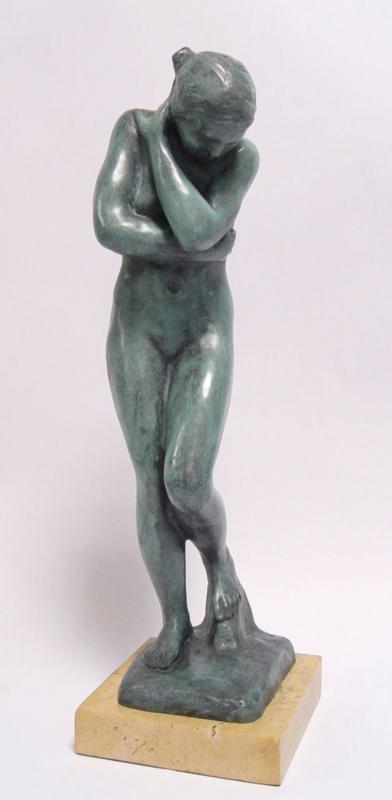 Eva bronzen beeld