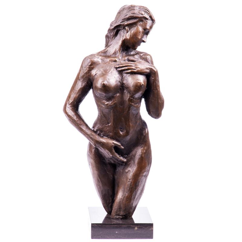 Naakt bronzen vrouw beeld