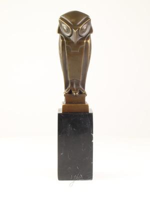 Bronzen Altorf uil art deco stijl