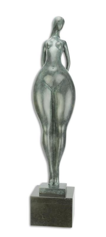 Modern bronzen naakte vrouw beeld