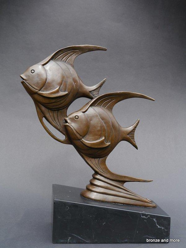 Bronzen Altorf maanvissen beeld