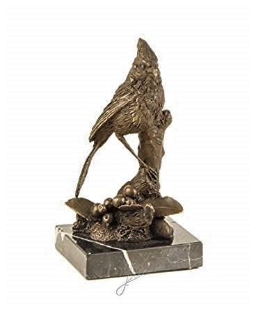 Kardinaal vogel bronzen beeld