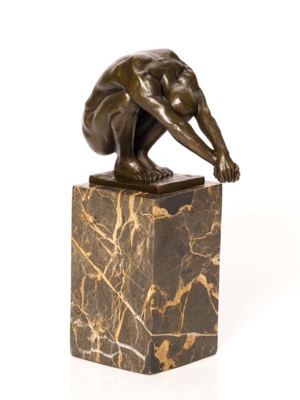 Bronzen beeld de duiker