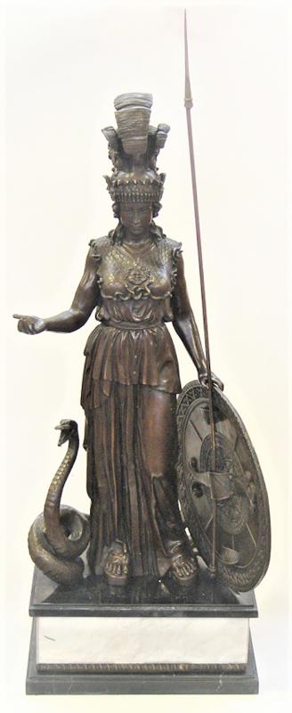 Bronzen Athena godin wijsheid