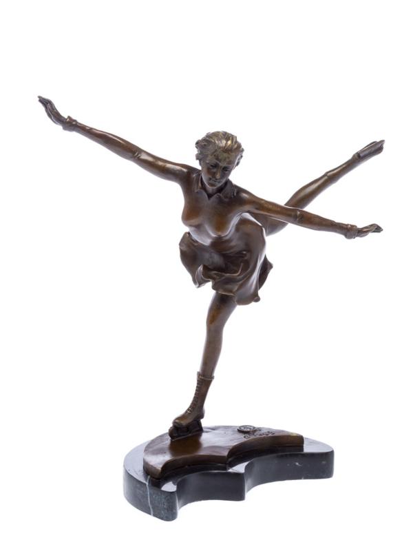 Kunstrijdster bronzen beeld