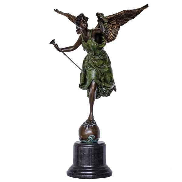 The Winged Victory gekleurd brons