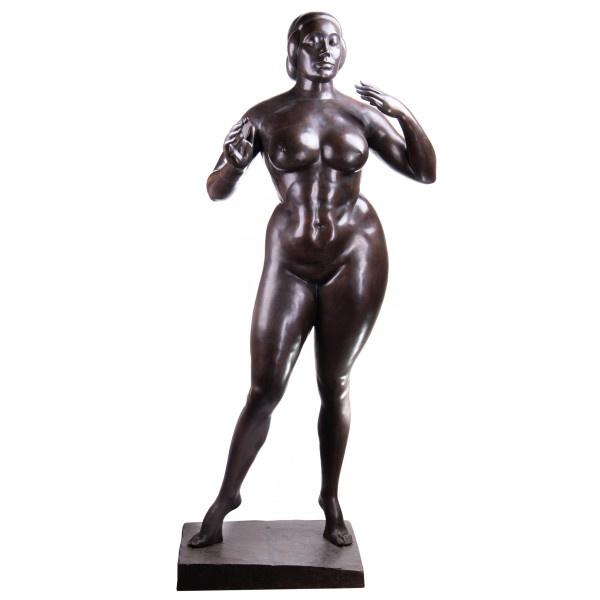 Bronzen naakte vrouwbeeld Elevatiën