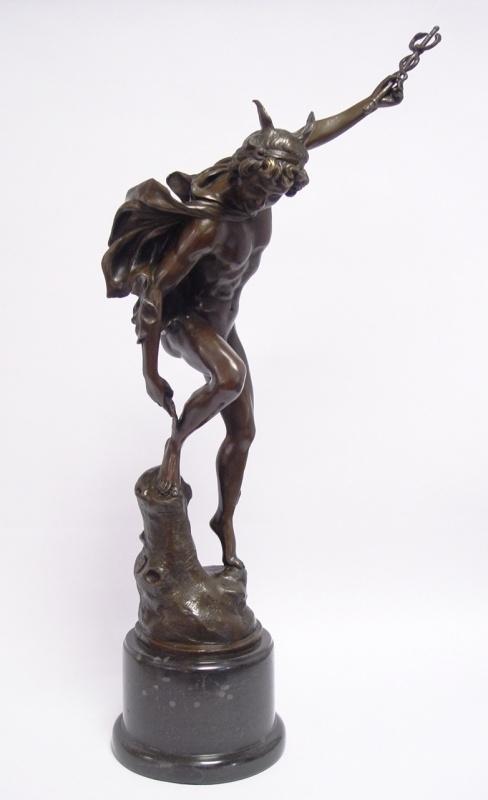 Bronzen Mercurius Hermes 62 cm