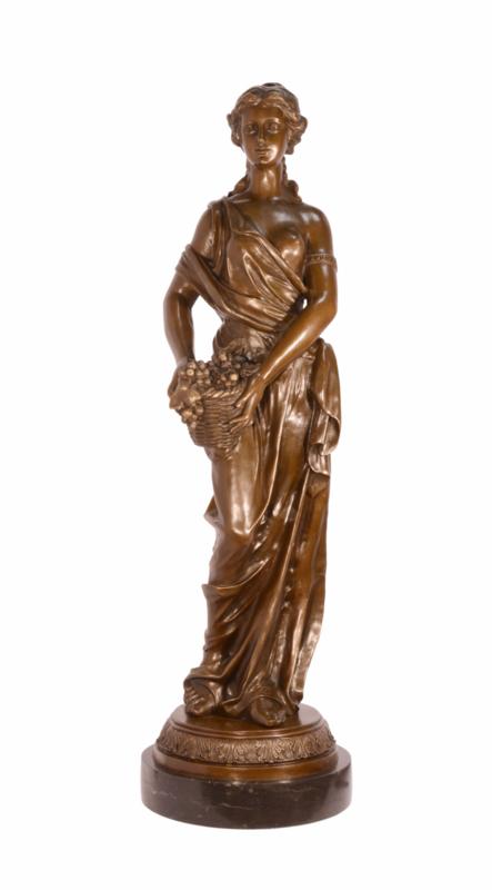 Bronzen beeld 4 jaargetijden Herfst