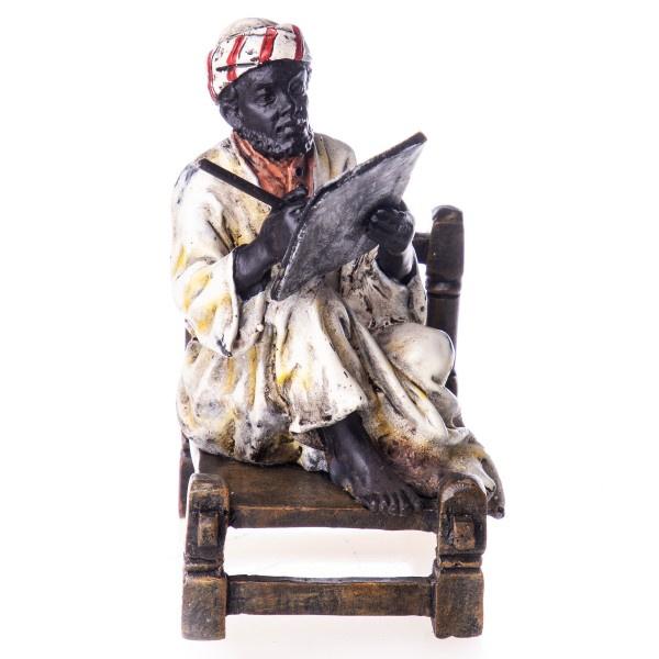Schrijvende Arabier brons beeld