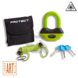 Slot Protect schijfrem/ kettingslot Groen/Rood/Zwart