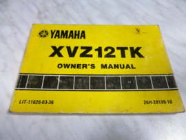 Gebruikershandleiding Yamaha XVZ12TK