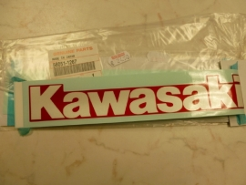 Sticker Kawasaki metallic rood