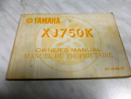 Gebruikershandleiding Yamaha XJ750K