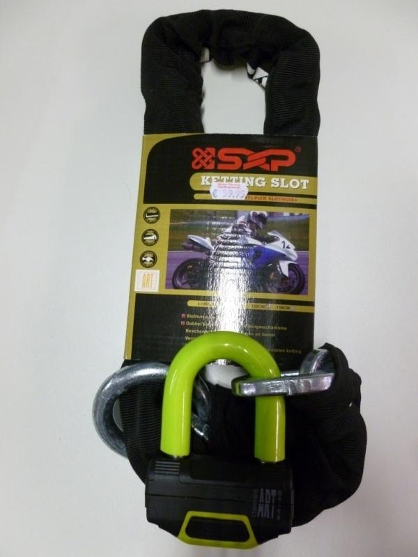 Slot ketting en schijfremslot in 1  SXP   ART4 Lengte:120cm