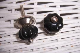 Knopje rozet klein zwart