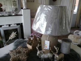 Lampenkap groot, grijs.  Clayre & eef