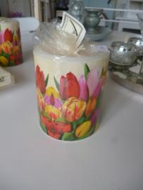 Kaars, tulpen