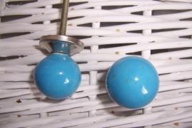 Knopje bal blauw
