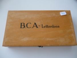 * Brocante * houten letterdoos