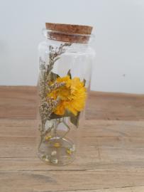 Glazen buisje droogbloemen